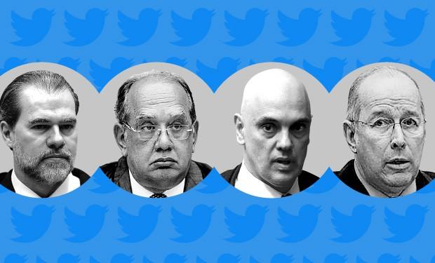 Toffoli, Gilmar Mendes, Alexandre de Moraes e Celso de Mello foram os mais citados em rede social
