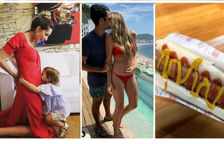 Mariana Weickert está grávida de quase quatro meses. No Instagram, ela compartilhou seu desejo de grávida: 'Hot dog' Reprodução/Instagram