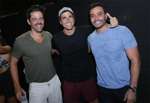 Reynaldo Gianecchini com Guiga Sampaio e Aldo Benevides (Foto: Divulgação/Fred Pontes)