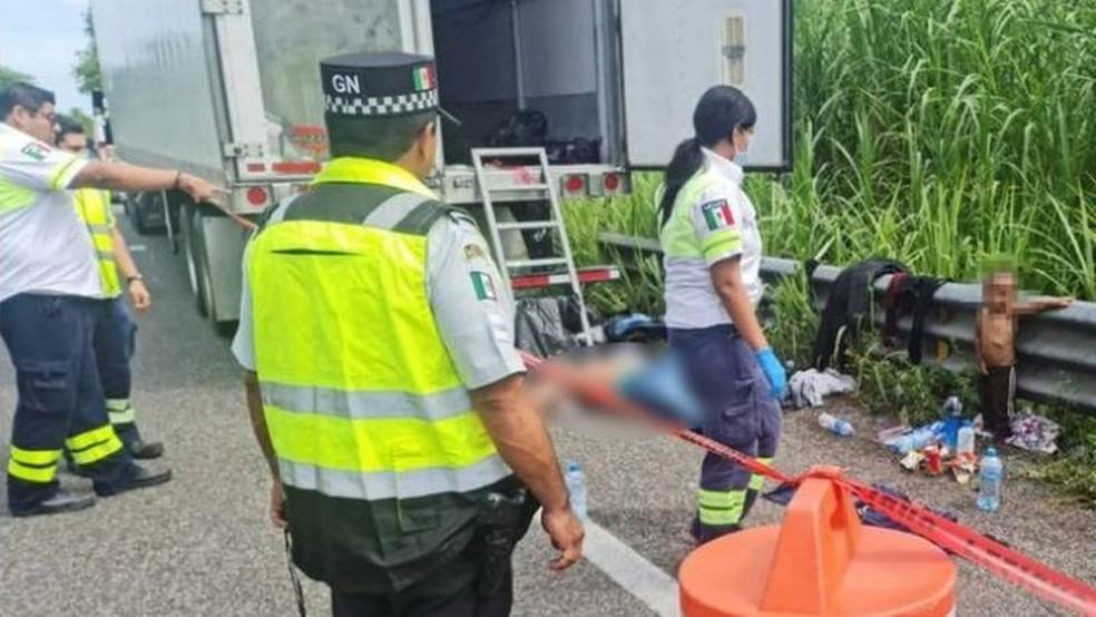 Um imigrante foi encontrado morto no local onde estava Wilder — Foto: REUTERS via BBC