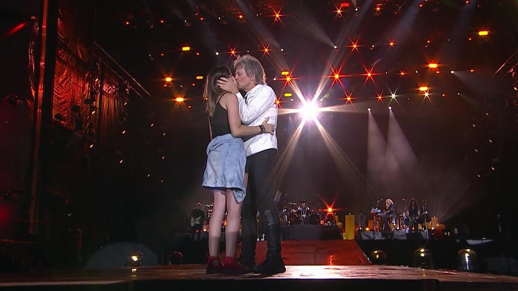 Fa Que Ganhou Beijo De Jon Bon Jovi Diz Que Cantor Falou Um Monte De Coisa Nao Entendi Nada Rock In Rio 2019 G1