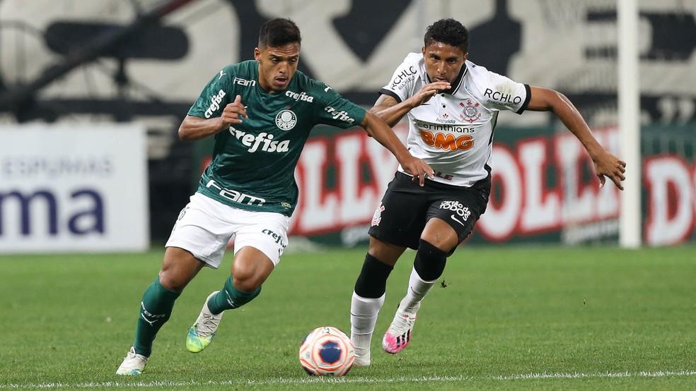 Gabriel Menino em ação pelo Palmeiras — Foto: Cesar Greco/Ag. Palmeiras