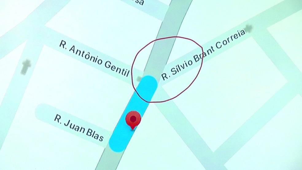 Local onde aconteceu o acidente com a perfuratriz — Foto: Reprodução/TV Globo