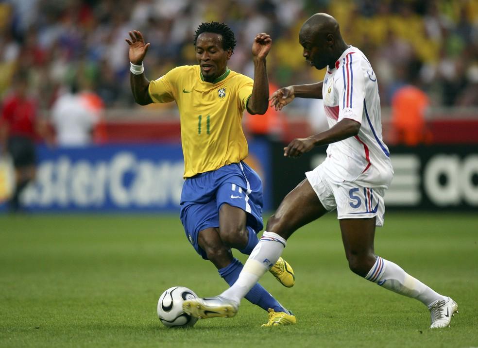 Zé Roberto, em ação na Copa de 2006 (Foto: Getty Images)