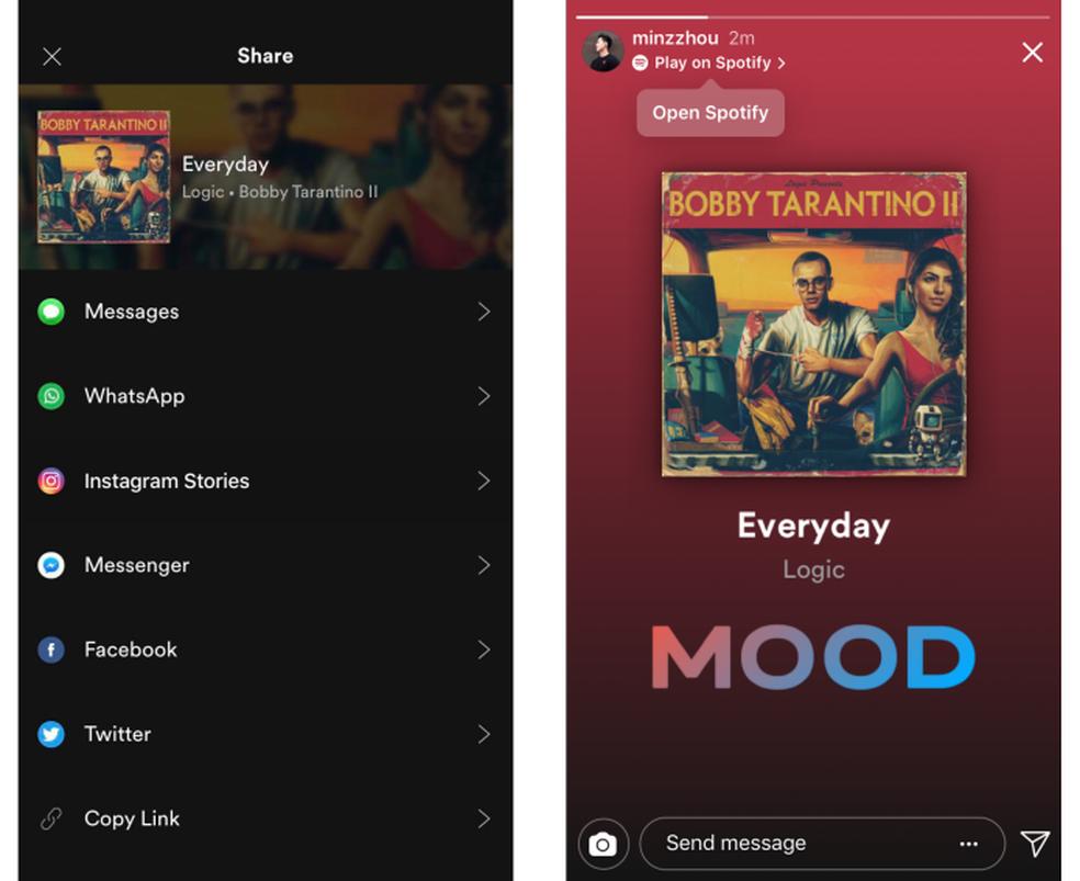 Músicas do Spotify poderão ser compartilhadas diretamente no Stories (Foto: Divulgação/Instagram)