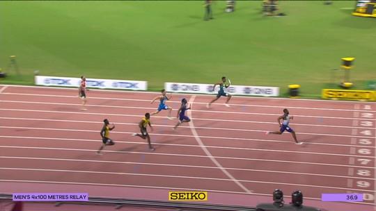 Brasil fecha eliminatórias dos 4x100m masculino como segundo e garante vaga na final