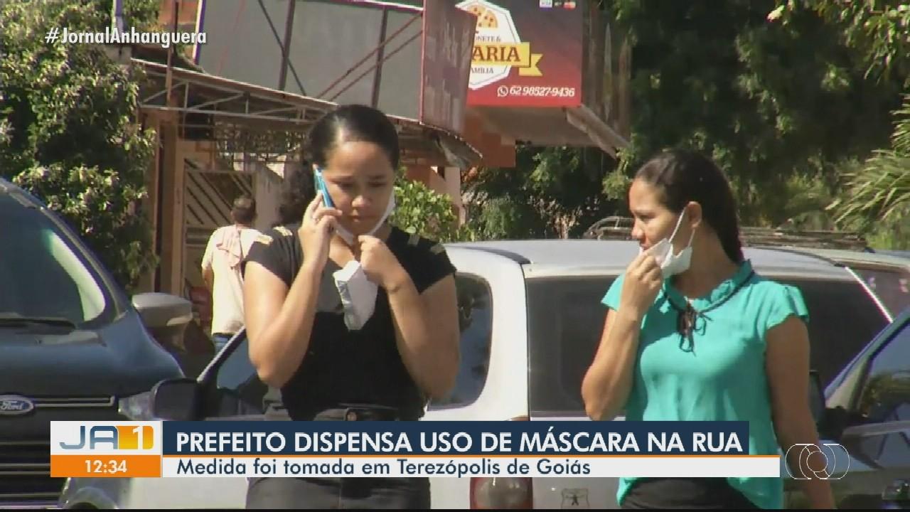 Prefeito de Terezópolis de Goiás dispensa o uso obrigatório de máscara em locais abertos