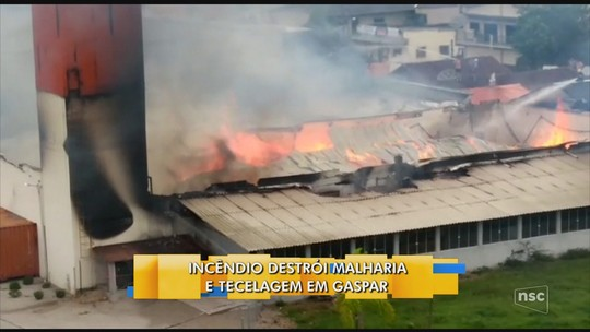 Incêndio em tecelagem de Gaspar é extinto após 12 horas