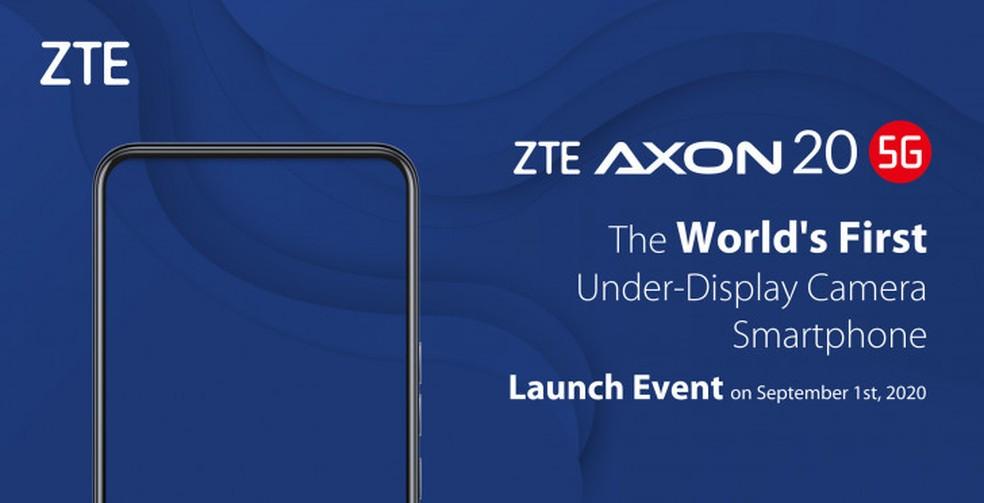 ZTE anuncia o lançamento do Axon 20 5G — Foto: Divulgação/ZTE