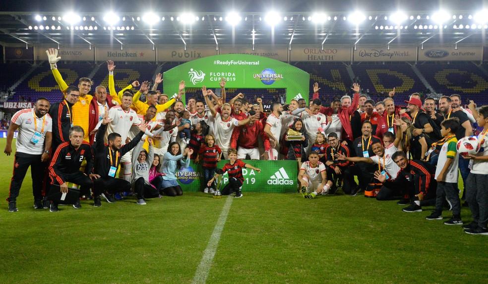Flamengo abriu a temporada com a conquista da Flórida Cup — Foto: Alexandre Vidal/ Flamengo