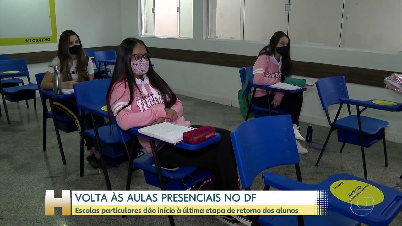 Escolas particulares do DF iniciam última etapa do retorno às aulas presenciais