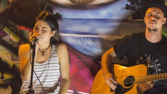 Chai, do 'The Voice Brasil', faz apresentação acústica em Foz do Iguaçu: 'Foi um dia muito lindo!'