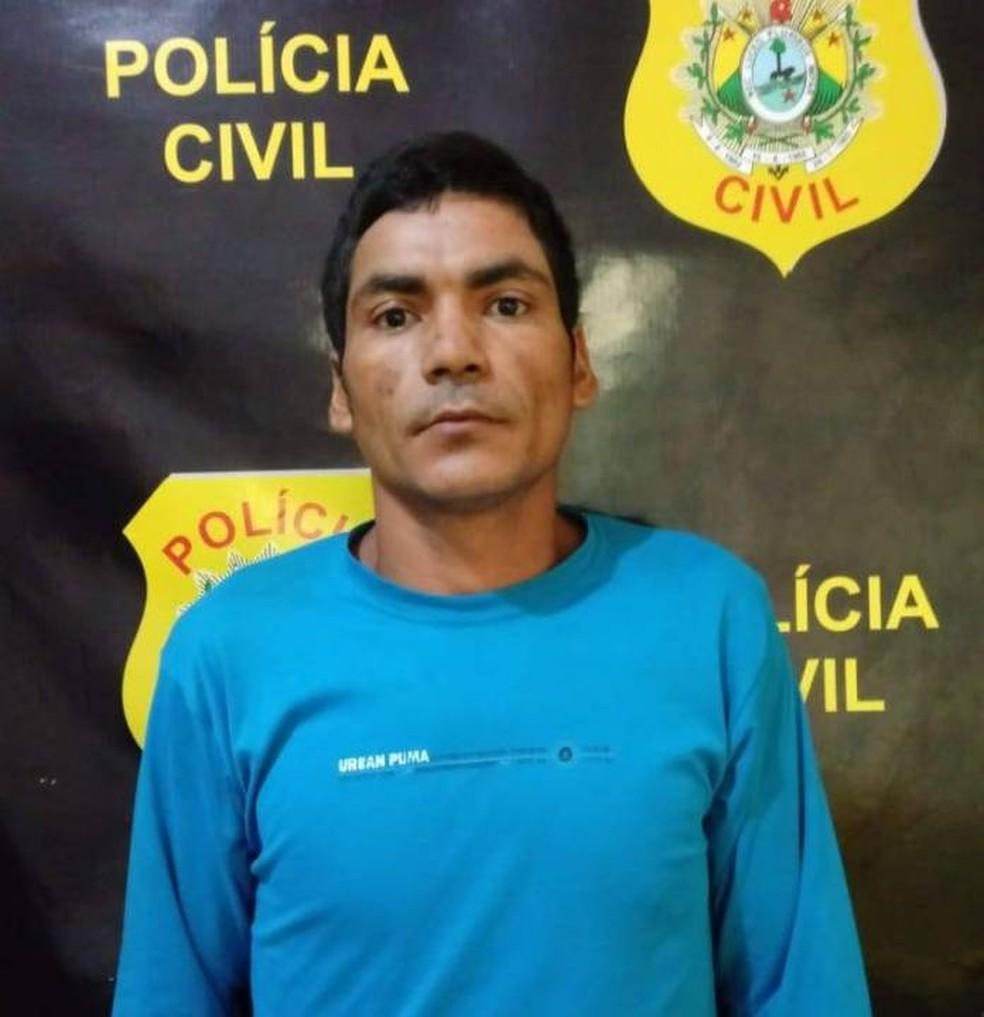 Francisco Antonio de Lima, de 27 anos, confessou que matou o sogro com seis tiros e depois jogou no Rio Xapuri — Foto: Alexandre Lima/Arquivo pessoal