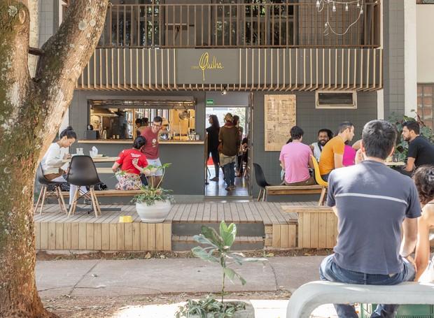 A fachada do café que também é loja e atelier (Foto: Ricardo Theodoro/ Divulgação )