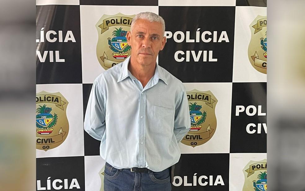 Pastor William de Souza Adriel é preso suspeito de estuprar seis crianças em Itaberaí — Foto: Polícia Civil/Divulgação