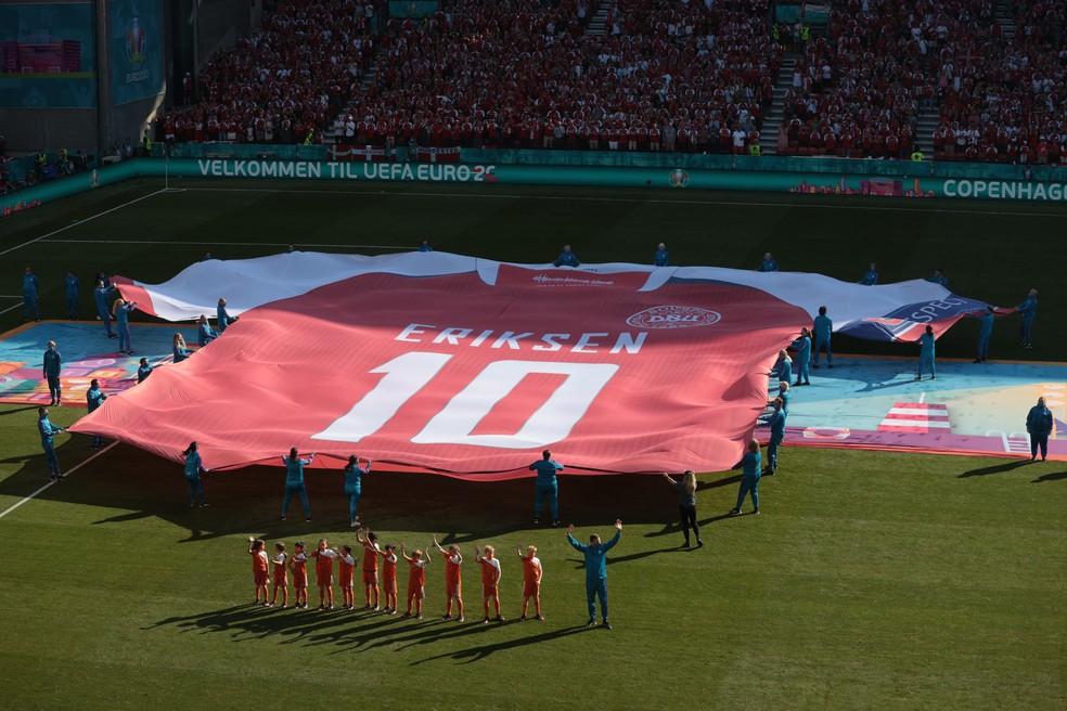 Homenagens a Eriksen na Eurocopa 2020