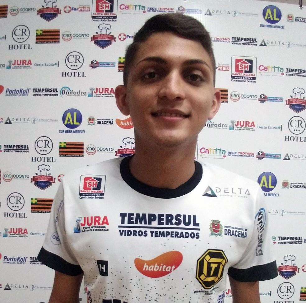 Natural de Patu, Landelino é outro com passagens pelo futsal potiguar e gaúcho — Foto: Dracena Futsal / Divulgação