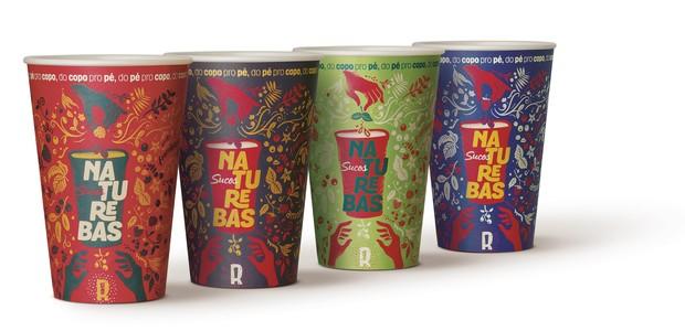O copo plantável é uma inovação na forma de servir sucos naturais (Foto: Divulgação)