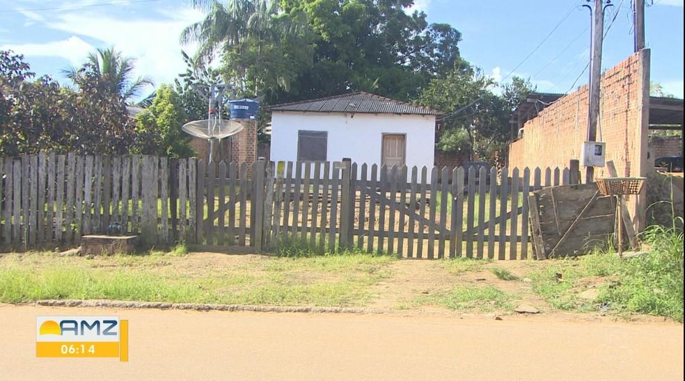 Casa onde Joselita foi morta em Candeias do Jamari — Foto: Rede Amazônica/Reprodução