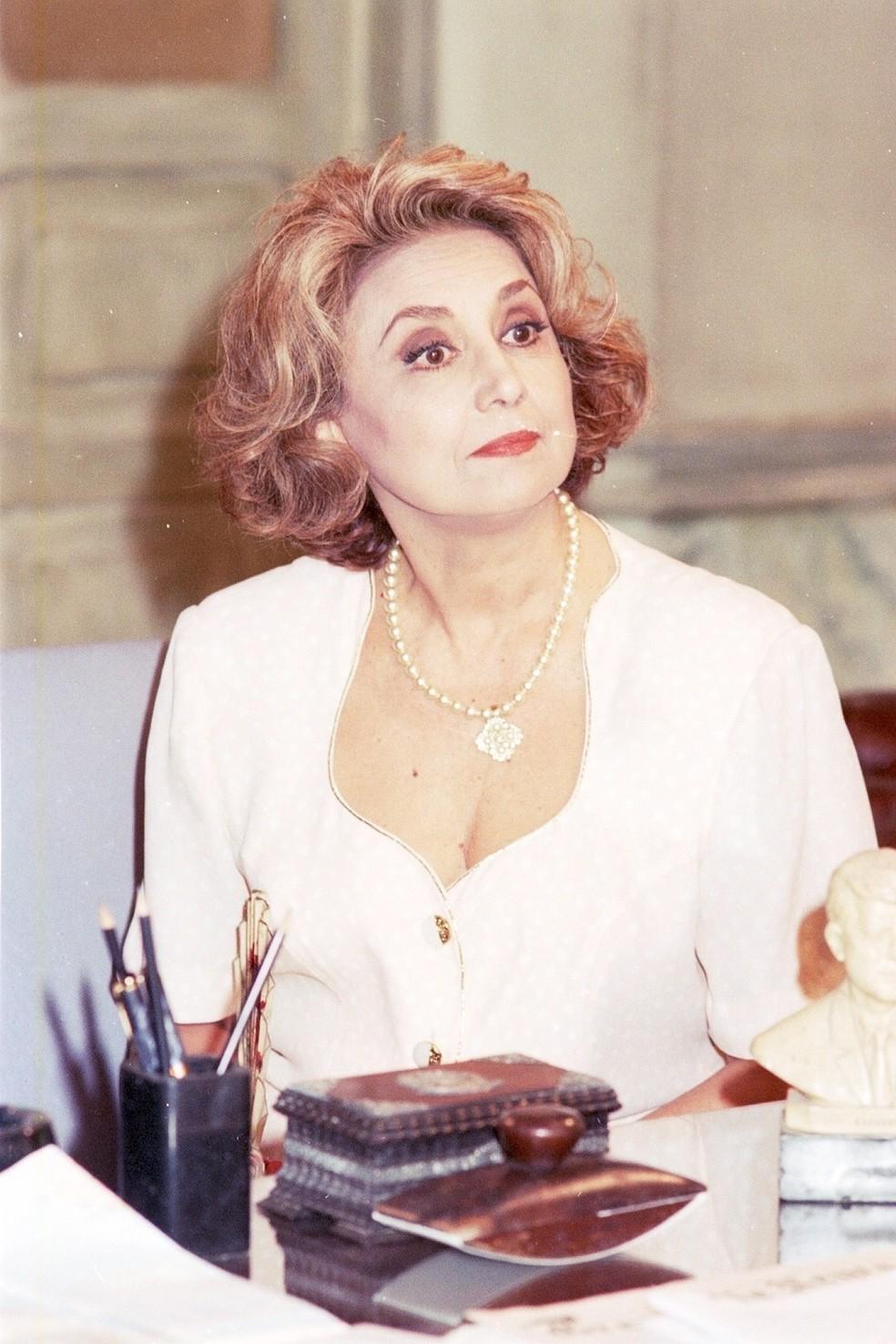 Eva Wilma como a inesquecível Altiva de 'A Indomada', novela das oito em 1997 — Foto: Acervo TV Globo
