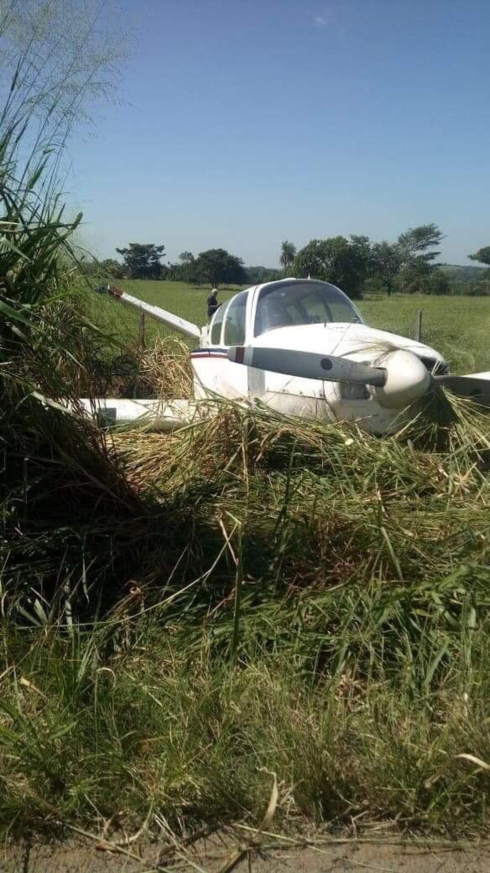 Avião fez pouso de emergência em MS  â?? Foto: Divulgação / Arquivo pessoal