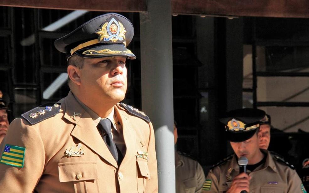 Tenente-coronel André Willian de Paula Sousa assume comandante do Giro — Foto: Soldado Rafael Delfino/PM