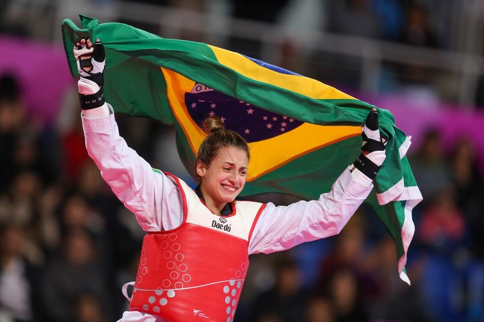Milena Titoneli, ouro no taekwondo no Pan de Lima — Foto: Abelardo Mendes Jr/ rededoesporte.gov.br