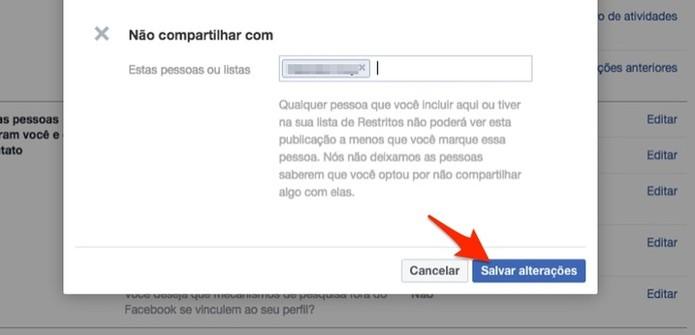 Ação para salvar a privacidade de novos posts do Facebook (Foto: Reprodução/Marvin Costa)