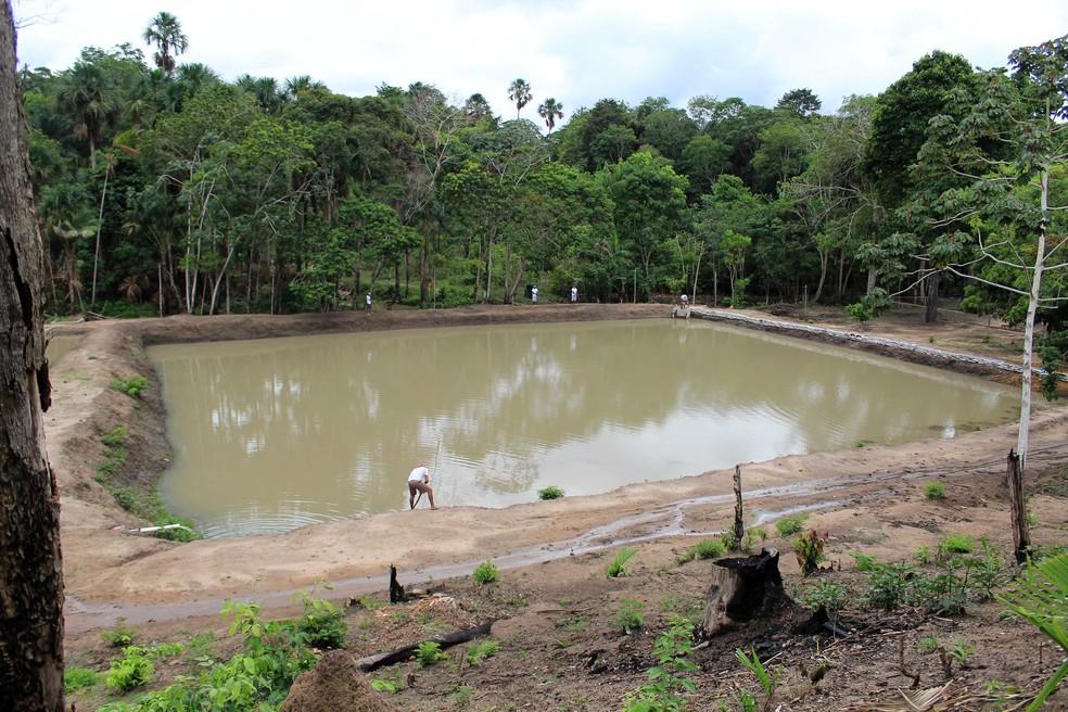 Projeto 'Nascente' constrói tanques para criação de peixes no presídio em Santarém — Foto: Veloso Júnior/Ascom Segup/Divulgação