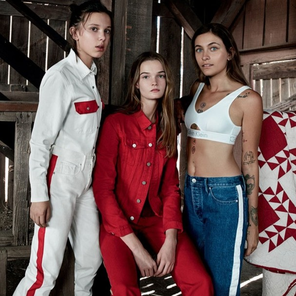 Millie, Lulu e Paris, o trio jovem da CK Jeans (Foto: divulgação)