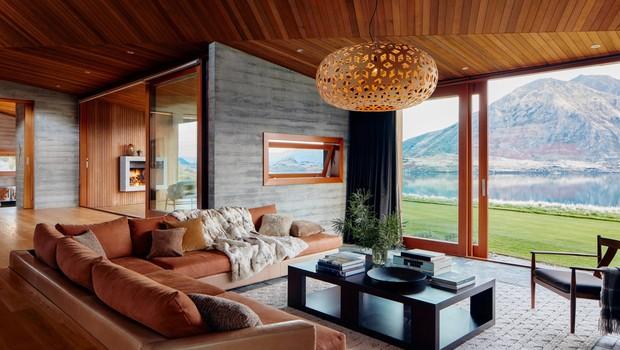 Propriedade na Nova Zelândia, disponível no novo serviço Airbnb Luxe (Foto: Divulgação/Airbnb)