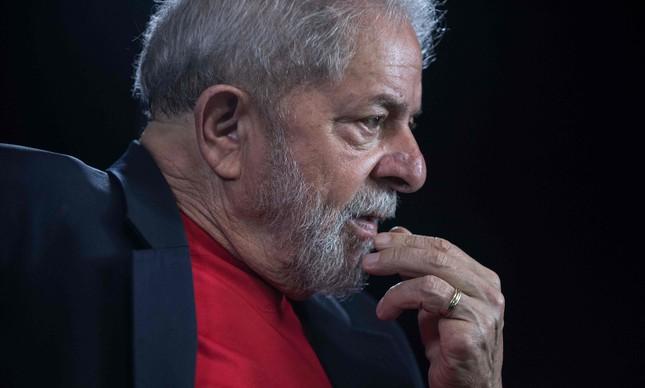 O ex-presidente Lula em entrevista a uma agência de notícias