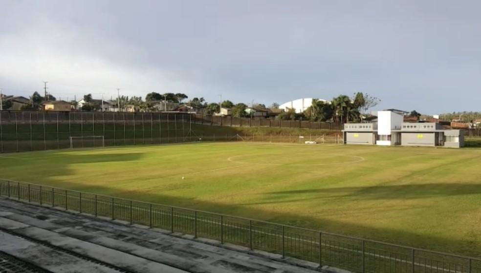 Campo no CT do Criciúma que vai ser usado pelo Grêmio — Foto: Reprodução