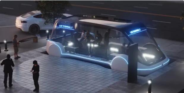 Musk vai priorizar pedestres. Vídeo divulgado pelo bilionário no Twitter ilustra como funcionarão os túneis que está construindo (Foto: Reprodução)