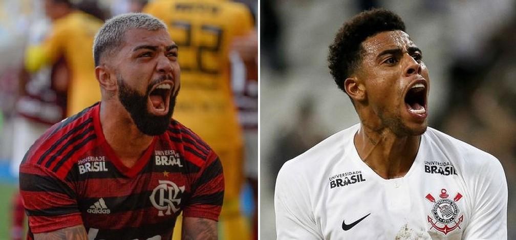 """Quem vai gritar """"gol"""" nesta terça-feira no Maracanã? Gabigol ou Gustagol? — Foto: GloboEsporte.com"""