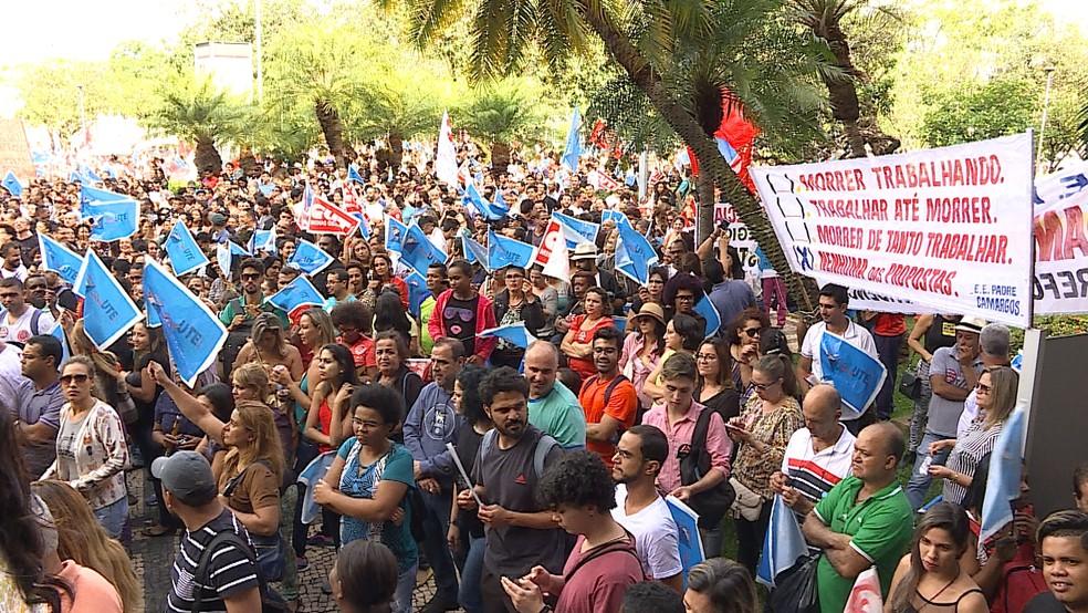 -  Segundo SindUTE categoria está reunida na capital mineira para um ato público nesta quarta-feira  16   Foto: Reprodução/ TV Globo