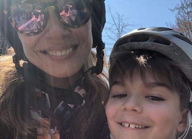 Luciana Gimenez e o filho caçula, Lorenzo (Foto: Reprodução/Instagram)