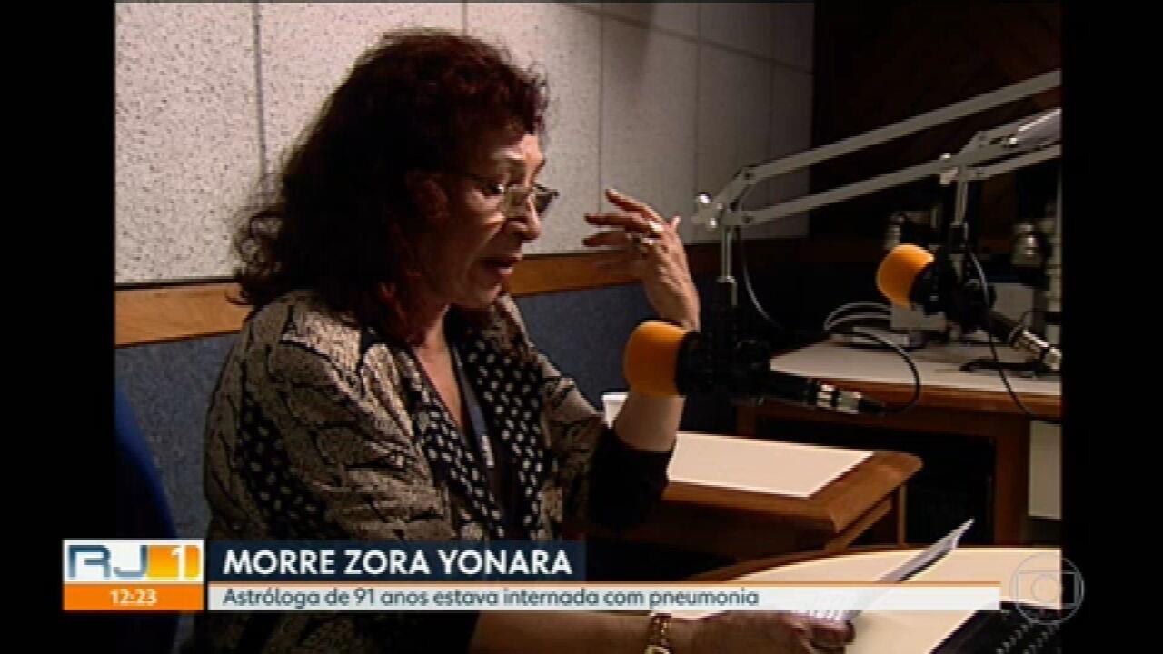 Morreu nessa sexta-feira a astróloga Zora Yonara