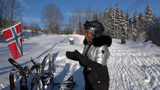 Glória Maria encara o mundo gelado da Noruega, um dos países mais frios do mundo