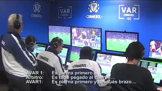 Conmebol divulga diálogo com VAR em pedido de pênalti do Inter contra o Flamengo; veja vídeo