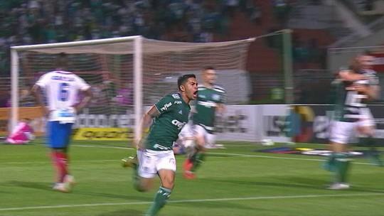 Mayke cruza, Dudu cabeceia e faz o gol da vitória do Palmeiras sobre o Bahia