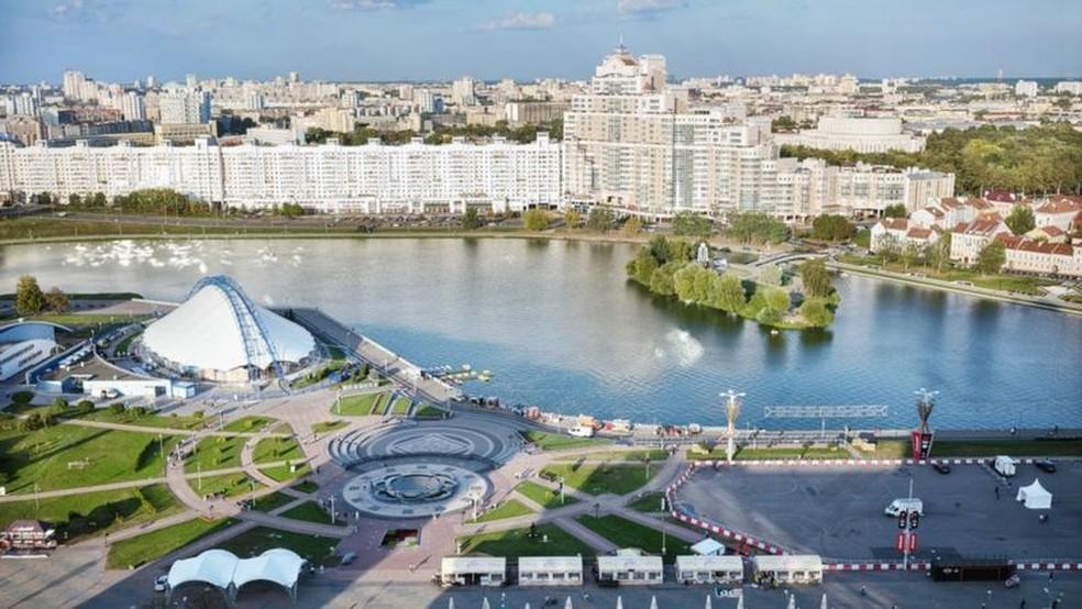 Arquitetura de Minsk lembra passado soviético — Foto: Getty Images/BBC