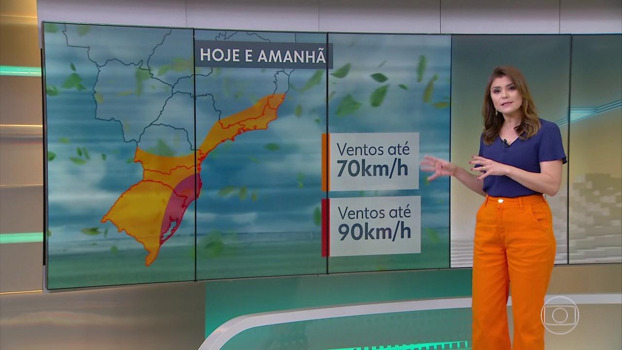 Novo ciclone bomba pode provocar ressaca e ventos fortes