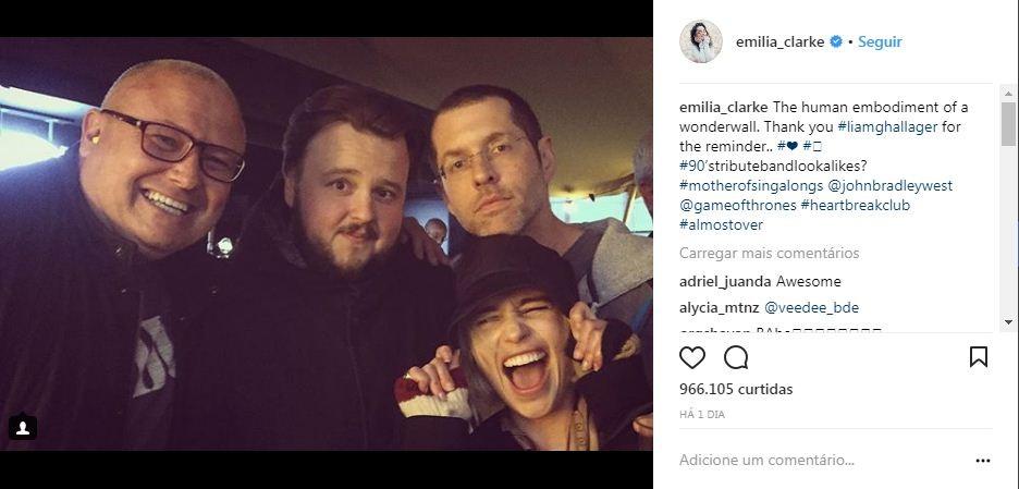 A festa de despedida das filmagens de Game of Thrones (Foto: Reprodução / Instagram)