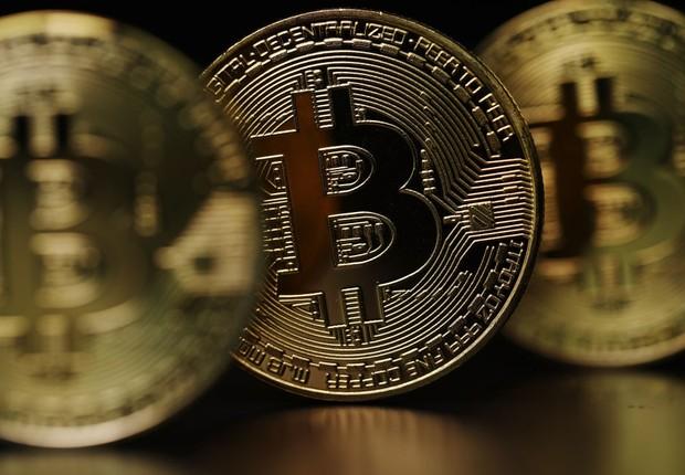 Representação visual da criptomoeda bitcoin ; moedas virtuais ;  (Foto: Dan Kitwood/Getty Images)