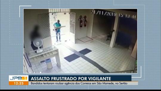 Vigilante impede assalto a agência dos Correios em São Mamede, no Sertão da Paraíba; veja o vídeo