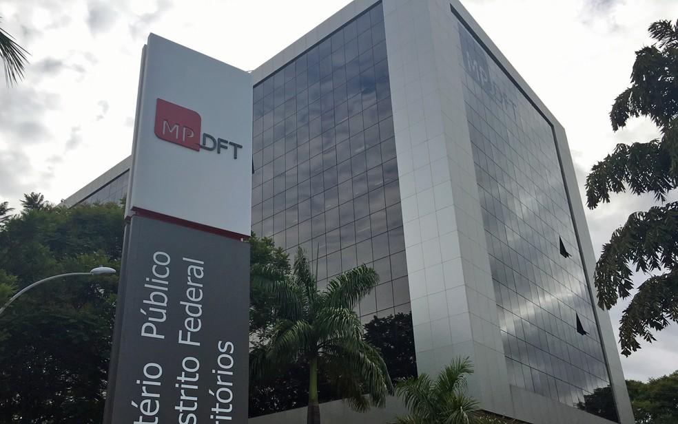 Fachada da sede do Ministério Público do Distrito Federal — Foto: Gabriel Luiz/G1