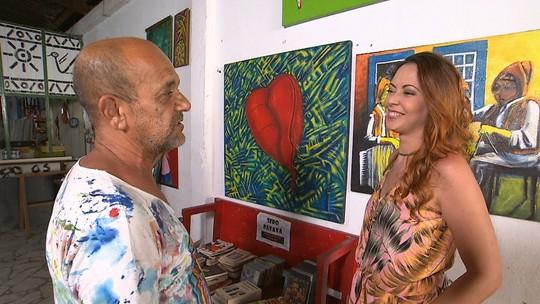 Artista plástico mostra suas obras espalhadas pelas ruas de Jacobina
