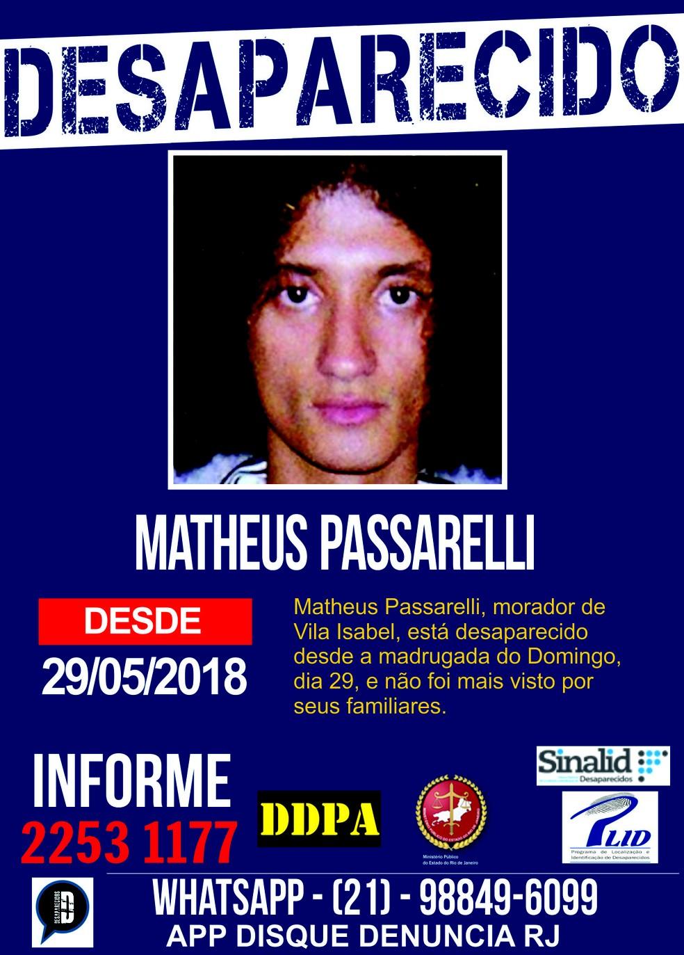 Portal dos Procurados pede informações sobre o estudante desaparecido (Foto: Divulgação)