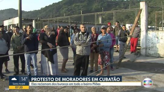 Protesto de moradores em Cubatão